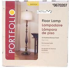 """Portfolio Barada Floor Lamp Oil Rubbed Bronze Finish 63"""""""