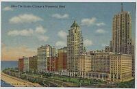 Old Vintage Linen Era Postcard The Drake Hotel Chicago, Illinois Lake Shore Dr.