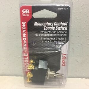 Gardner Bender GSW-123 20 amps Double Pole Toggle Momentary Switch Black/Silver