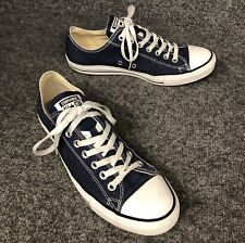 Convers All Star Navy Blue Low Top Shoes Sneakers Mens 9 Womens 11 In EUC