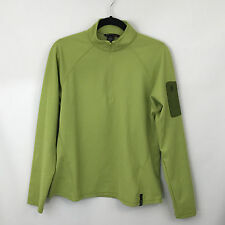 North End Sport Ladies Large Green Pullover Half Zip Polyester w/Arm Pocket