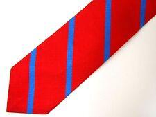 Vtg Polo Ralph Lauren Boys Necktie Tie Red Blue Striped Repp Skinny