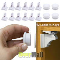 New Magnet Child Locks 12 Locks 3 Keys Cabinet Baby Safety Invisible Kids Proof