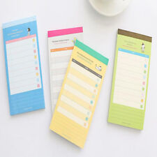1pc Cute Personal Daily Schedule Memo Pad Office Checklist Shopping List Notes