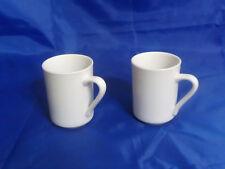 2 Delco Ceramicor Restaurant Grade Porcelain Concord Mugs 8.75 Oz. (.26 L)