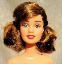 Light Brunette hair pigtails fashion fever nude Teresa face sculpt barbie