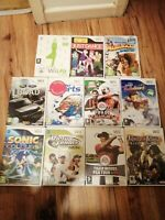 11 FAULTY NINTENDO WII GAMES WATER SPORTS JUST DANCE KARTZ FIT FIFA SONIC FORD