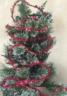 Gisela Graham Sparkly Red Tinsel Christmas Tree Decoration 3 Metres