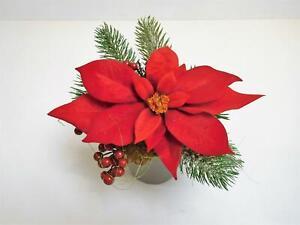 Weihnachtsstern Gesteck Blumengesteck Kunstblume rot 16 cm 267512-10 F39