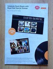 David Bowie Royal Mail Sellos promocional tarjeta de pantalla de stand-up 2017