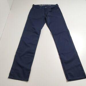 Mens Dickies Flex Regular Fit 32x34 Work Pants Navy Blue