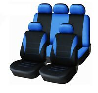 Peugeot 207 208 307 2008 3008 Car Seat Covers Blue Black Sporty To Fit