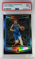 2018-19 Panini Obsidian Preview Luka Doncic Rookie RC #571, Mavs, Graded PSA 9