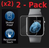 Premium Tempered Glass Screen Film Protector For Apple Watch 42mm / 38mm 2-PACK