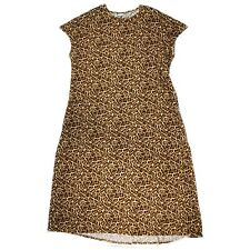 LulaRoe Maria Maxi Dress Leopard Animal Print Stretch Cap Sleeve Womens Sz 3XL