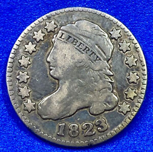 1823 Capped Bust Dime 10c Rare Early Date Circulated K95