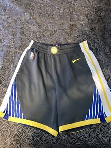 Men's Nike NBA Authentics Golden State Warriors Grey Basketball Shorts Size 38