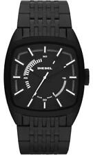 New Diesel DZ1586 Square Dial Stainless Black IP Band Sport Watch