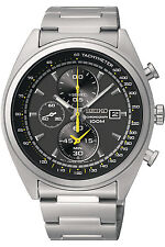 SEIKO SNDF85P1,Men's CHRONOGRAPH,STAINLESS STEEL CASE,100M WR,SNDF85
