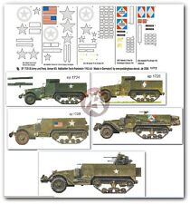 Peddinghaus 1/72 US & French M3A1 & M16 Half-track Markings WWII (5 veh.) 1735