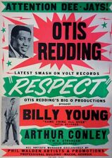 "Otis Redding / Arthur Conley 16"" x 12"" Photo Repro Concert Poster"
