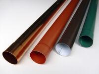 5 Tubi barre pluviali tondo in acciaio zincato diametro Ø 80 mm x 4 mt