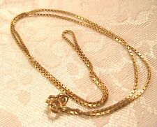 14K Gold 17'' Box Chain Italy .9mm wide necklace