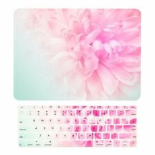 """2016 MacBook Pro 13"""" NO TOUCH BAR A1708, Pink Peony Hard Case + Keyboard Sk"""