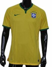 Nike Brazil Official Genuine Team Jersey Yellow Green Large L $150 Exclusivo