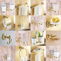 Luxury Gold Color Brass Bathroom Accessories Bath Hardware Towel Bar fset021