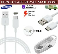 For Samsung A20 A40 A50 Type C Charging USB-C Sync Fast Charger Data Cable White