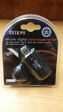 Zeikos Secure Digital Card Reader/Writer -Includes USB Cable NEW