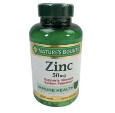 Nature's Bounty ZINC 50mg Vitamin Immune Health Supplement 400 Count Caplets