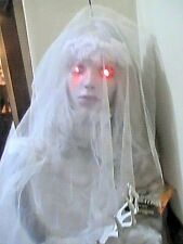 Halloween Decoration Scary Prop Animated Automaton Bride Ghost Haunted Musical