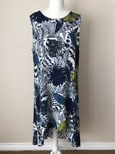 Desigual Womens Blue Floral Sleeveless Maxi Dress Size 46 Lined Great Condition
