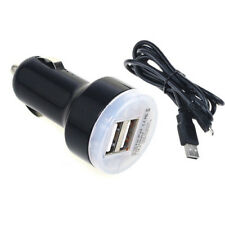 Dual USB Port Car Charger Adapter For Micro USB Phone Power Supply Cable Mains