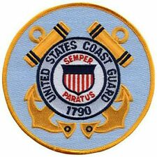 """Coast Guard 5"""" Circle sew on high quality EMBROIDERY EMBLEM-Patch GIFT?"""