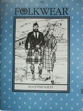 Folkwear 152 Scottish Kilts Prince Charlie Jacket Vest Sewing Costume Pattern