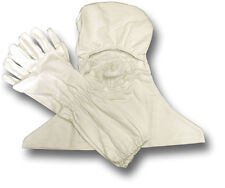 NEW FLAME RESISTANT ANTI FLASH WHITE HOOD AND GLOVES, GOVT ISSUE
