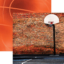 Reminisce STREETBALL 12x12 Dbl-Sided (2pc) Scrapbooking Paper BASKETBALL