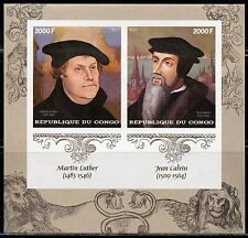 CONGO 2017  500th ANNIVERSARY OF REFORMATION MARTIN  LUTHER  SHEET IMPF MINT NH
