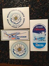 VINTAGE MOUNT COOK AIRLINE Luggage Labels Lot Of 4 Excellent Cond. Unused NZ