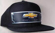 Hat Cap Front Nylon Strap Chevrolet Chevy Bowtie Gold Black CHAJ