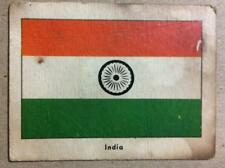 RARE Vintage 1940s CARD - FLAGS OF THE WORLD;SPORTS AROUND THE WORLD - INDIA