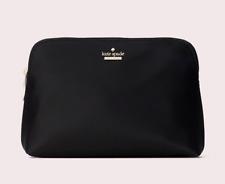 Kate Spade watson lane small briley Nylon Dome Pouch Cosmetic Bag ~NWT~ Black