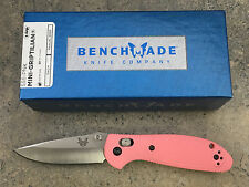 Benchmade Mini Griptilian Knives Pink Handle Drop Point Blade 556-PNK