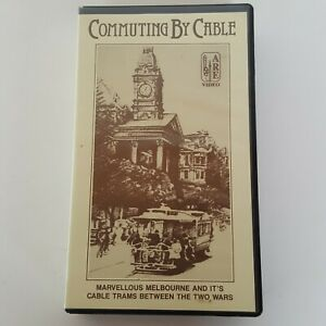Commuting By Cable VHS Tape Melbourne Australia Trams Documentary ARE Video 1988