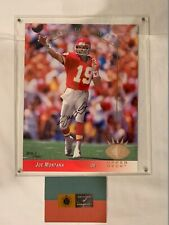 Joe Montana signed 8x10 card Upper Deck UDA Kansas City Chiefs Limited 308/500
