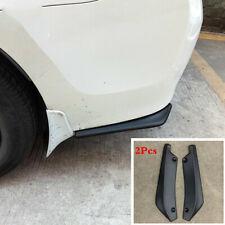 Universal 2Pcs Matte Black Car Rear Bumper Splitters Diffuser Canard Protector