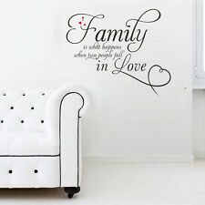 Family Fall In Love Quote Removable Vinyl Decal Mural Home Decor Wall Sticker